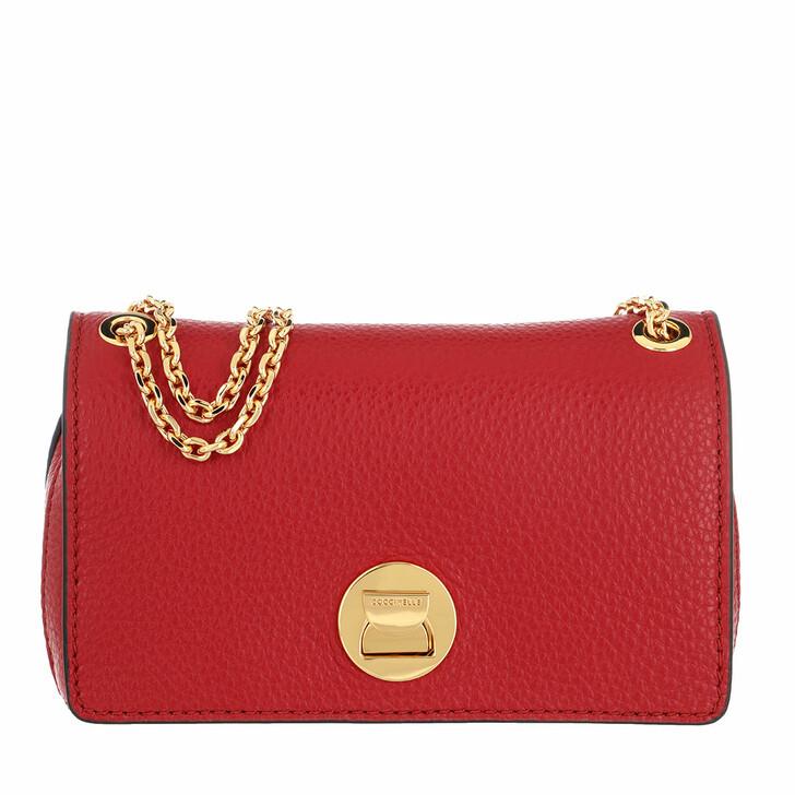 Handtasche, Coccinelle, Handbag Grainy Lea Ruby/Ruby