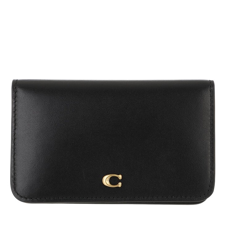 wallets, Coach, Slim Card Case Black