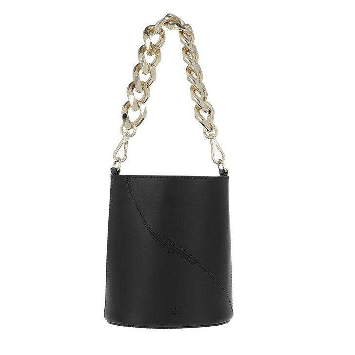 Handtasche, ATP Atelier, Small Bucket Bag Black