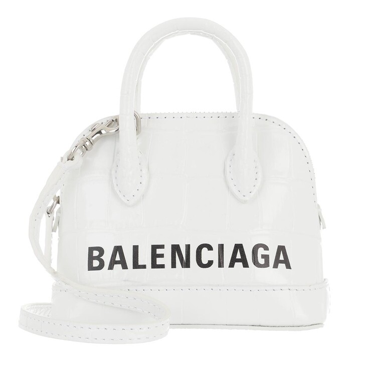 Handtasche, Balenciaga, Ville Mini Crossbody Bag Optic White