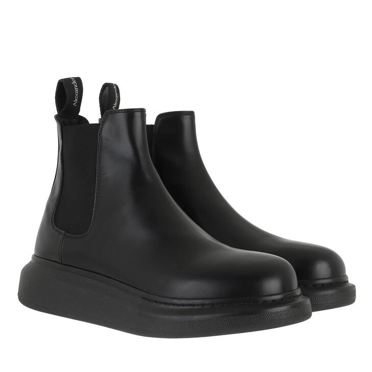Schuh, Alexander McQueen, Chelsea Boots Leather Black