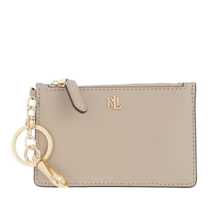 wallets, Ralph Lauren, Zip Card Case Medium Farro