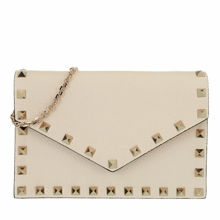 Handtasche, Valentino Garavani, Rockstud Envelope Shoulder Bag Ecru