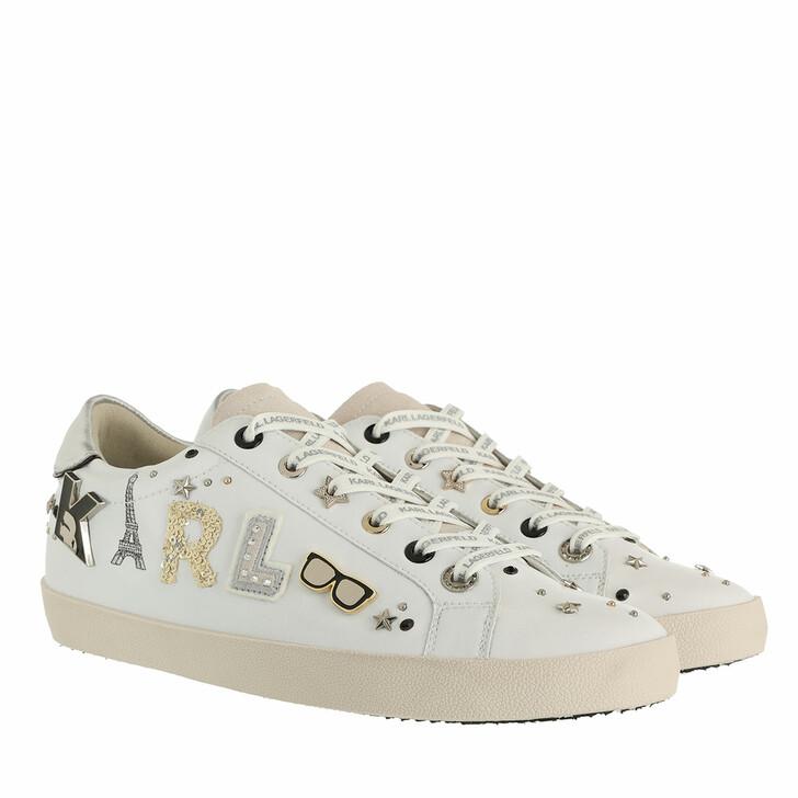 shoes, Karl Lagerfeld, SKOOL Karl Paris Badge Low White Leather