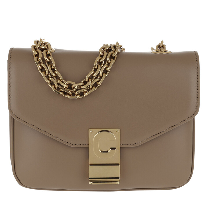 Handtasche, Celine, C Bag Small Shiny Calfskin Light Camel