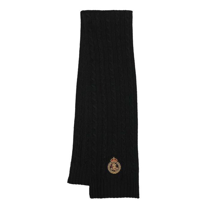 scarves, Ralph Lauren, Scarf Oblong Black