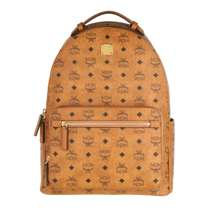 Reisetasche, MCM, Stark Visetos Backpack Medium   Cognac