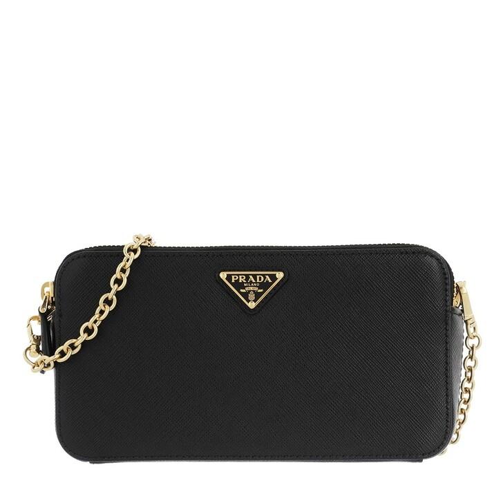 Handtasche, Prada, Dual Zip Shoulder Bag Leather Nero