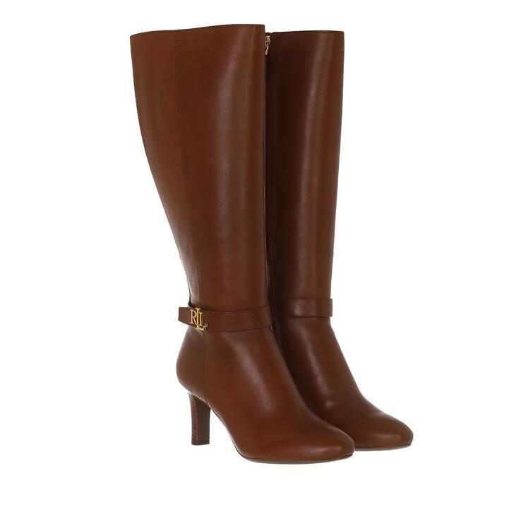 shoes, Lauren Ralph Lauren, Ardington Boots Dress Deep Saddle Tan