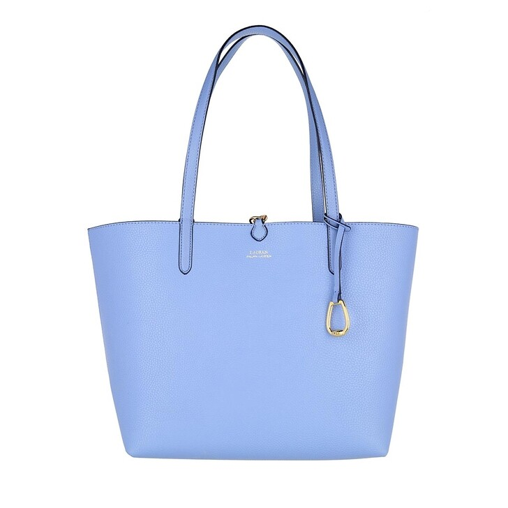 bags, Lauren Ralph Lauren, Rvrsble Shopper Medium Cbna Blue/Eqst Blt Cbna Blue