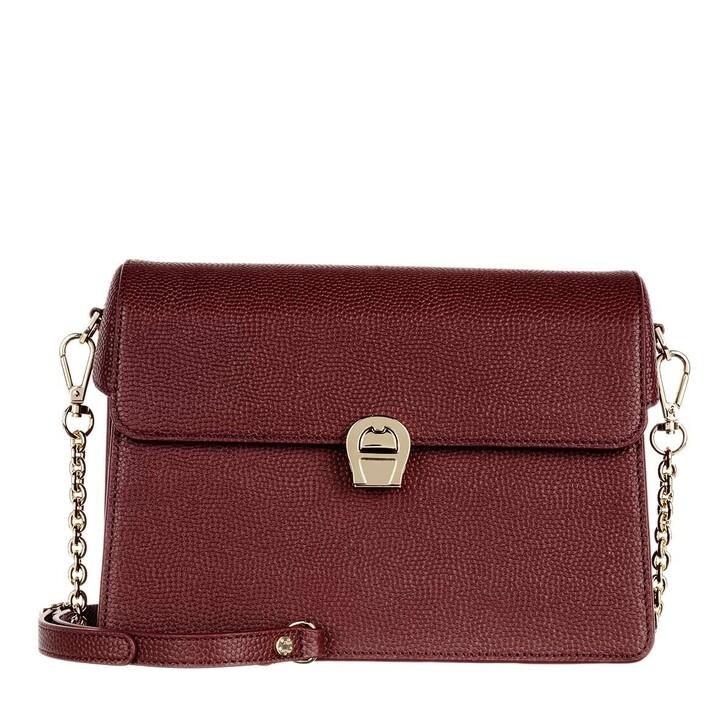 Handtasche, AIGNER, Genoveva Crossbody Bag Leather Burgundy