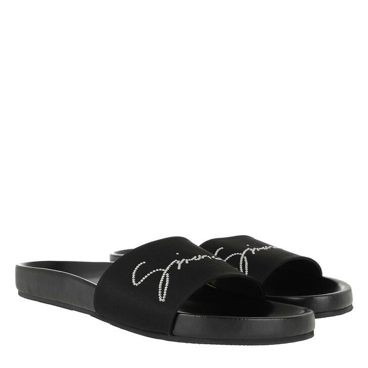 Schuh, Givenchy, Crystal Satin Slides Black