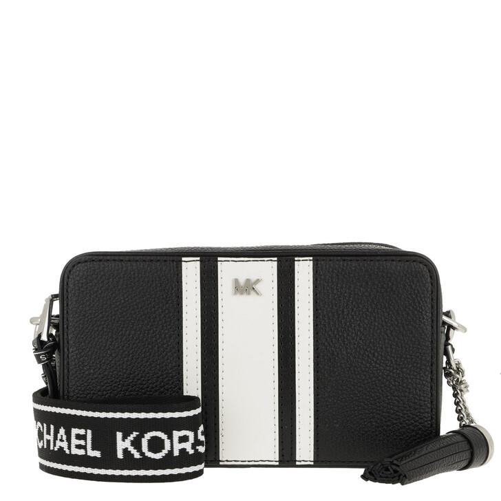 Handtasche, MICHAEL Michael Kors, Small Camera Bag Black/Optic White
