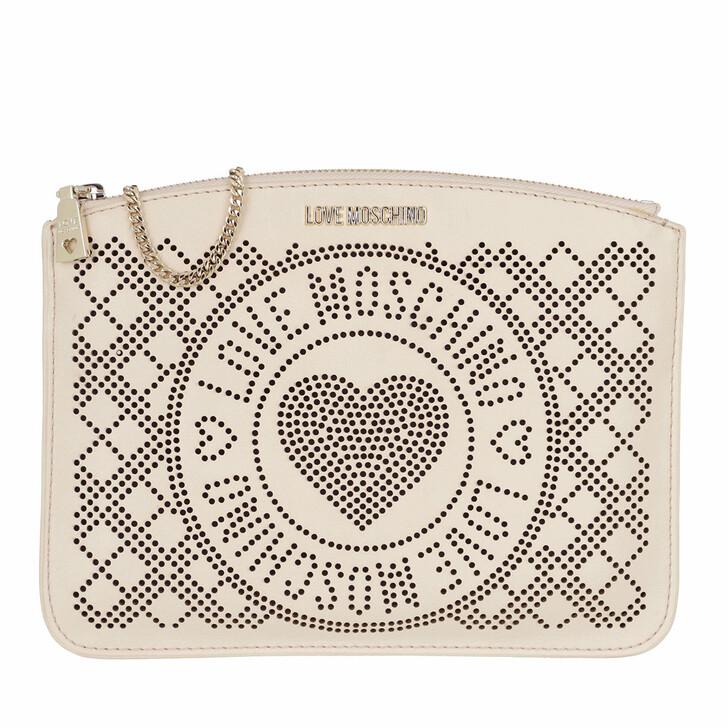 Handtasche, Love Moschino, Borsa Pu   Avorio/Nero