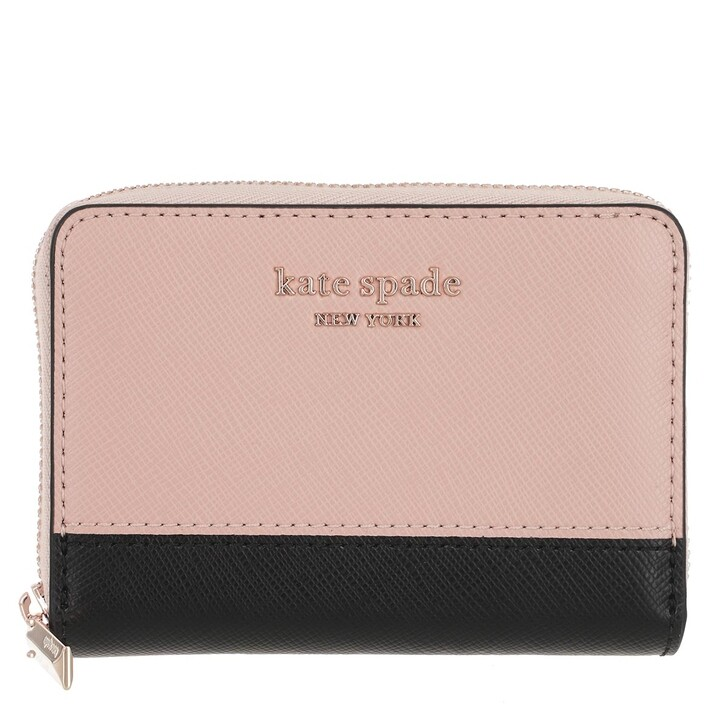 Geldbörse, Kate Spade New York, Zip Card Case  Warm Beige/Black