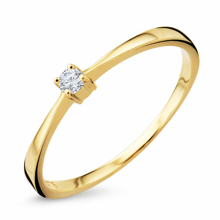 rings, DIAMADA, Ring Diamond 9KT (375) Yellow Gold