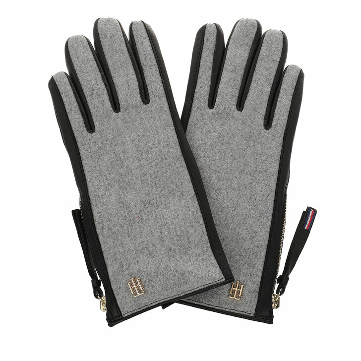 Handschuh, Tommy Hilfiger, TH Wool Mix Gloves Grey Mix M-L