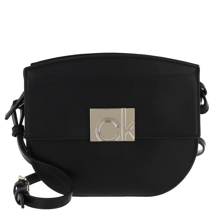 Handtasche, Calvin Klein, Flap Saddle Bag Black