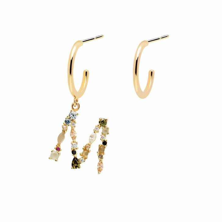 earrings, PDPAOLA, M Earring Yellow Gold