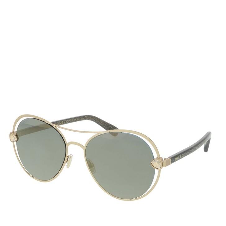 Sonnenbrille, Jimmy Choo, SARAH/S Sunglasses Gold Glitter Grey