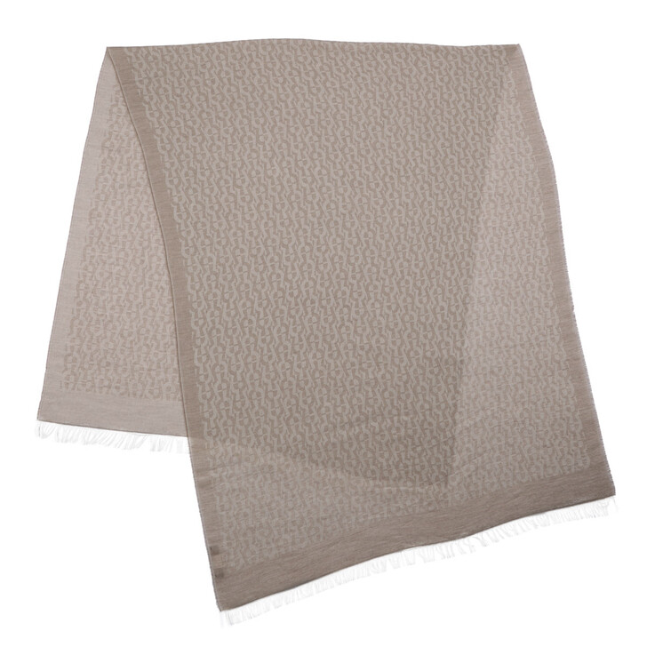 Schal, AIGNER, Scarf Taupe