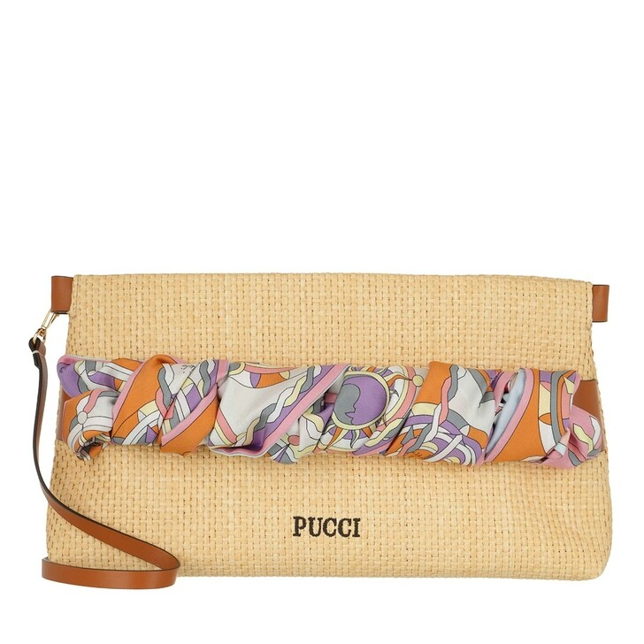 Handtasche, Emilio Pucci, Clutch Bag Solid Beige+Melone