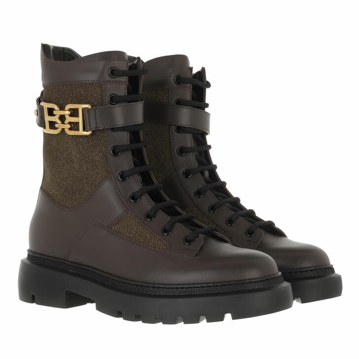 shoes, Bally, Bootie Gioele Flat-T Ebano