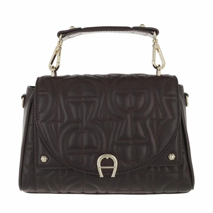 bags, AIGNER, Diadora Handbag Espresso Brown