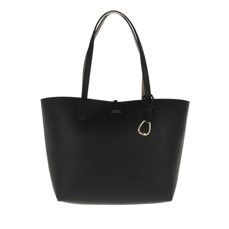 Handtasche, Lauren Ralph Lauren, Reversible Tote Medium Black/Taupe
