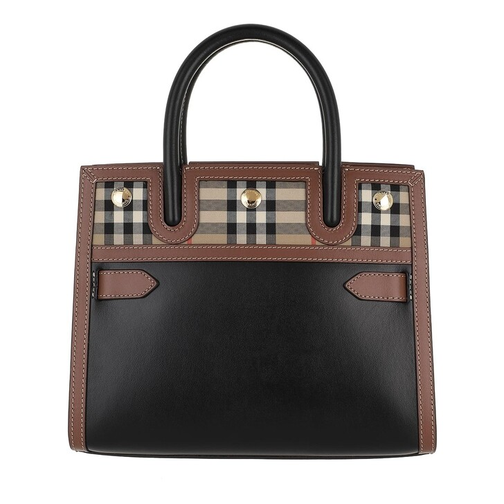 Handtasche, Burberry, Baby Title Shoulder Bag Black/Brown