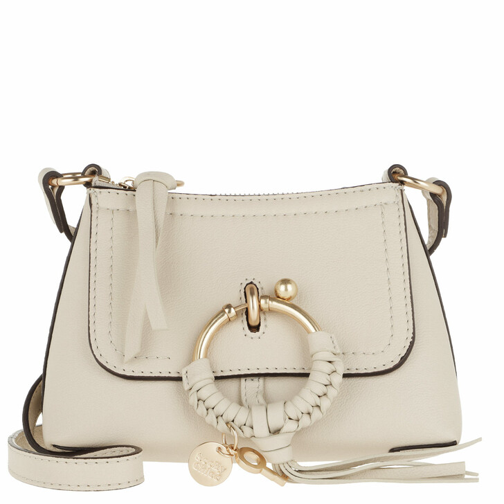 bags, See By Chloé, Joan Crossbody Bag Mini Leather Cement Beige