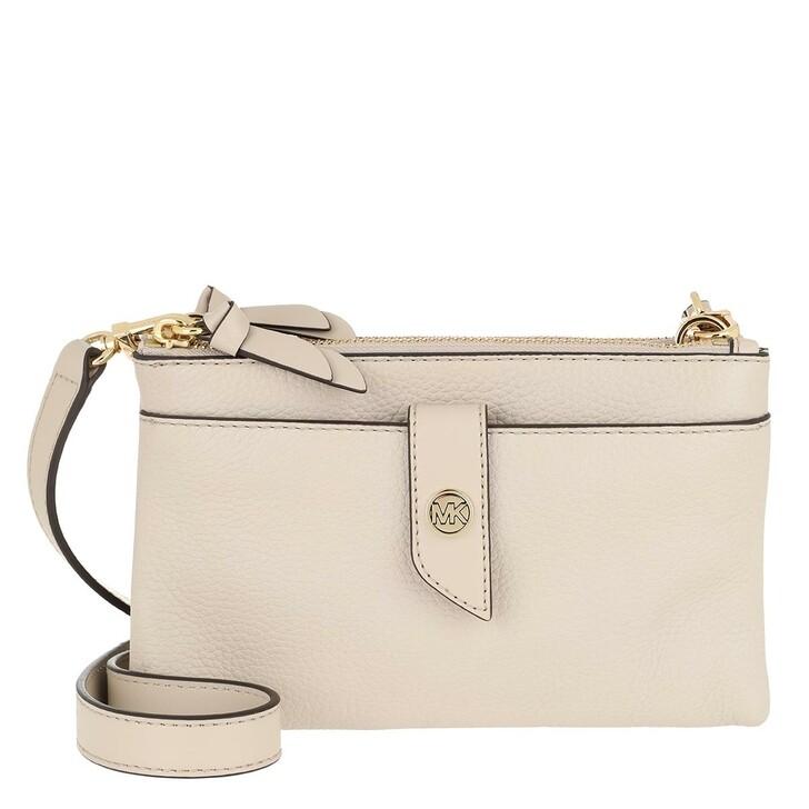 Handtasche, MICHAEL Michael Kors, Charm MD Tab Doublezip Phone Crossbody Bag Light Sand