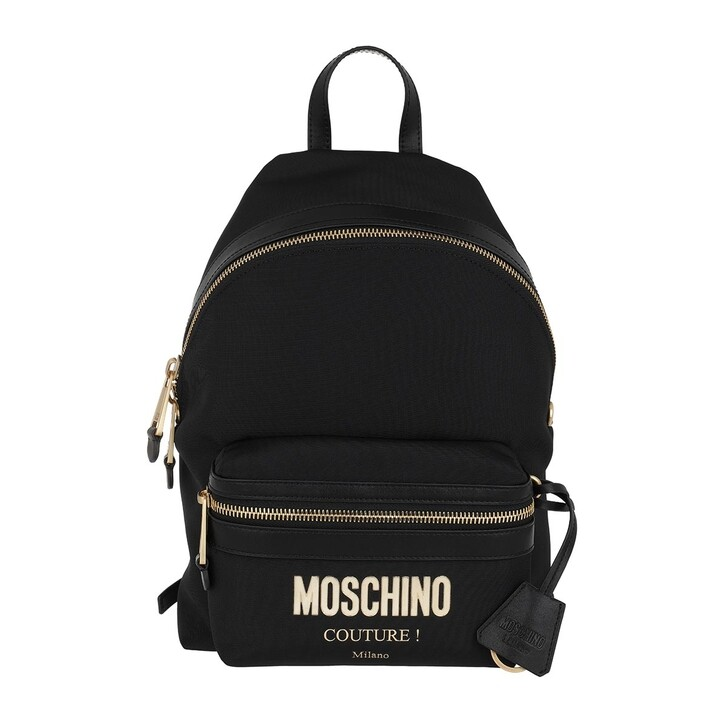 Reisetasche, Moschino, Logo Backpack Black