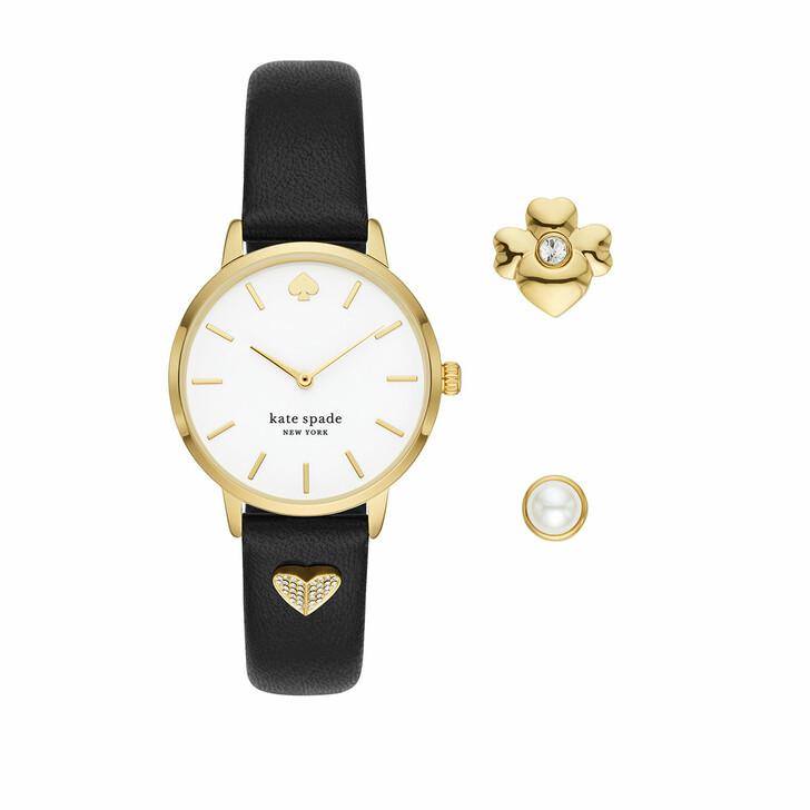 Uhr, Kate Spade New York, Metro Watch And Charm Set Black