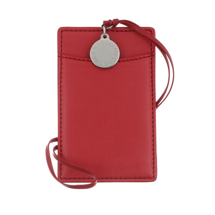 wallets, Stella McCartney, Card Holder Eco Alter Nappa Red Amore