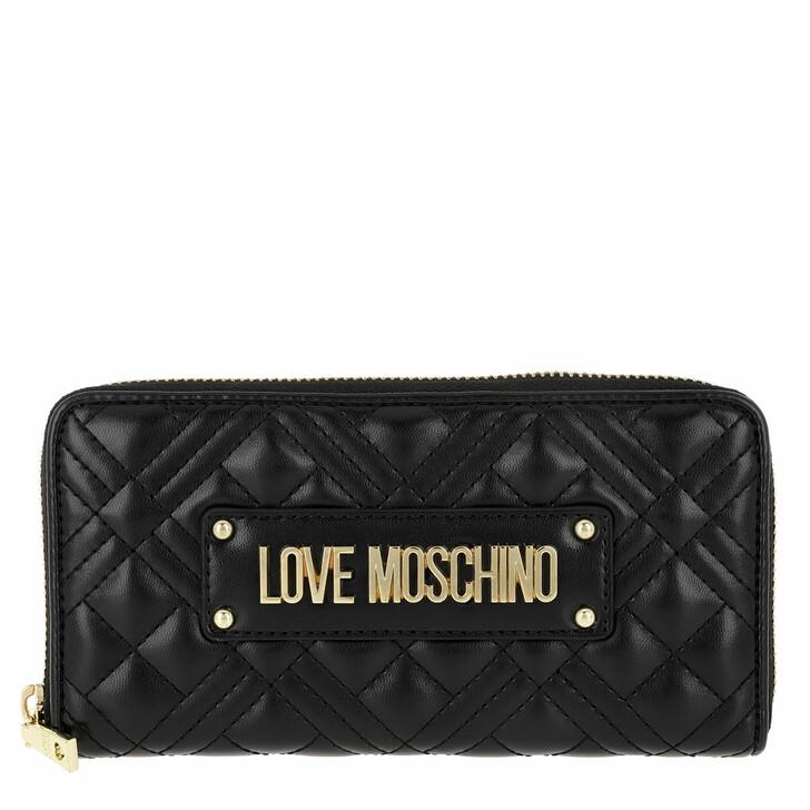 Geldbörse, Love Moschino, Wallet Quilted Nappa   Nero