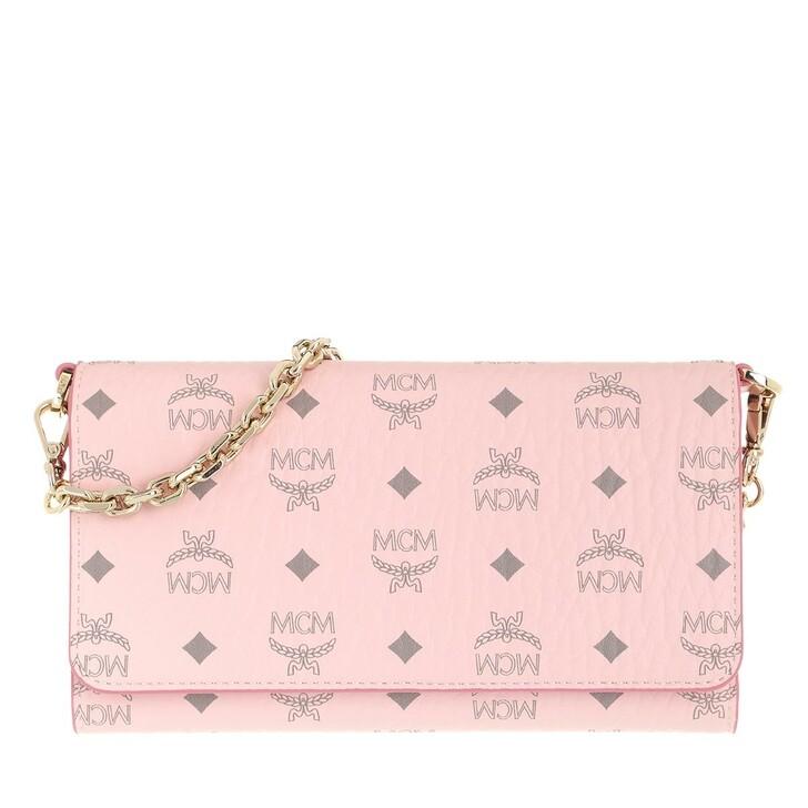 Geldbörse, MCM, Visetos Original Phone Wallet Crossbody Bag Powder Pink