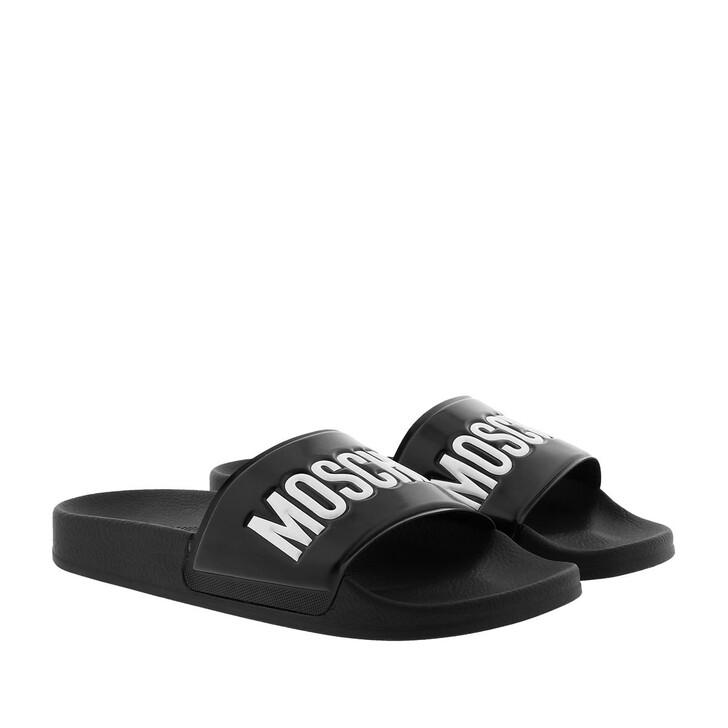 Schuh, Moschino, Mules Gomma Black