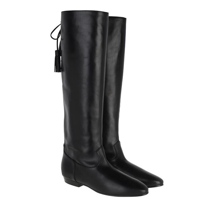 Schuh, Celine, Stivali Flat Boots Calfskin Black