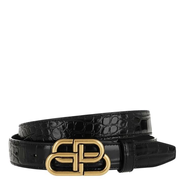 Gürtel, Balenciaga, BB Thin Belt Leather Black