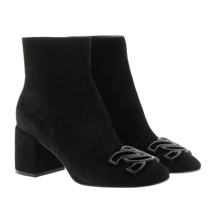 Schuh, Casadei, Malleolo Camo Boots Black