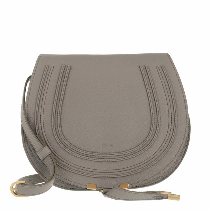 bags, Chloé, Marcie Medium Saddle Bag Grained Leather Cashmere Grey