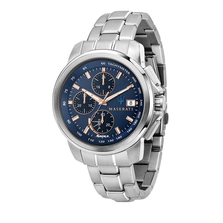 watches, Maserati, Successo 44mm Solar  silver