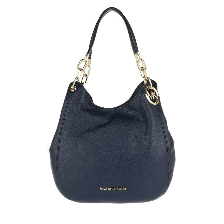 Handtasche, MICHAEL Michael Kors, Lillie Large Chain Shoulder Bag Navy
