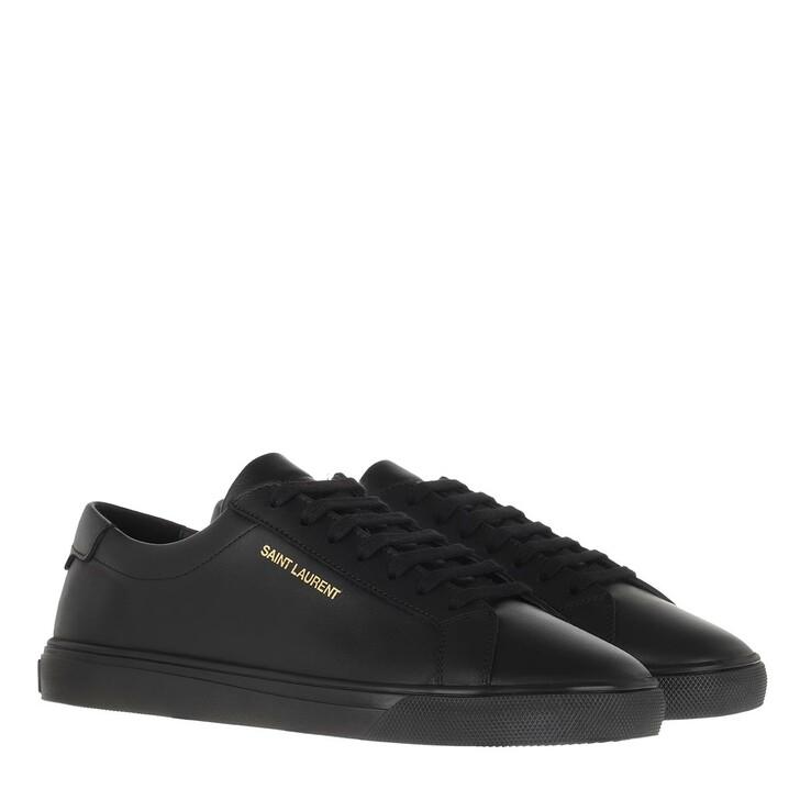 Schuh, Saint Laurent, Sneakers Leather Nero