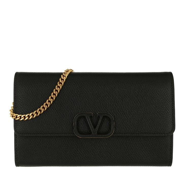 wallets, Valentino Garavani, VLogo Signature Chain Wallet Black