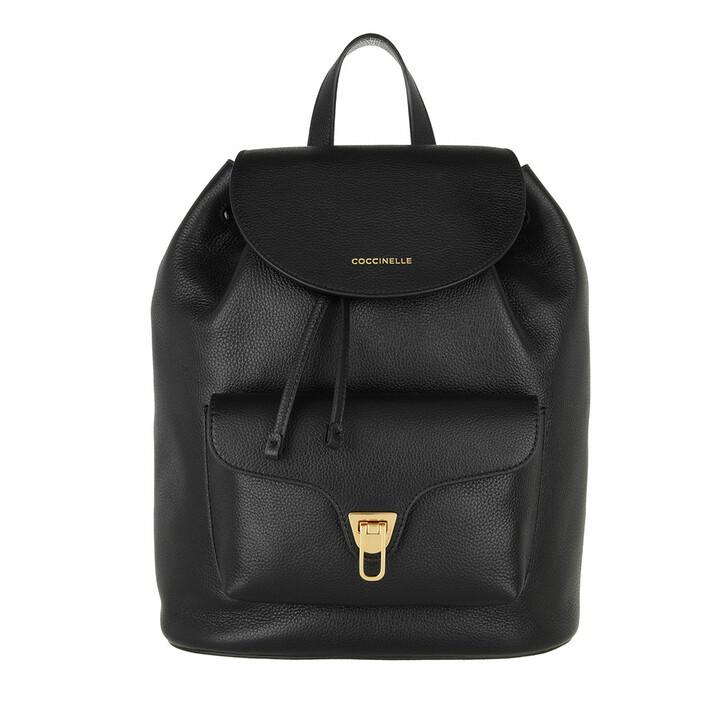bags, Coccinelle, Handbag Bottalatino Leather  Noir