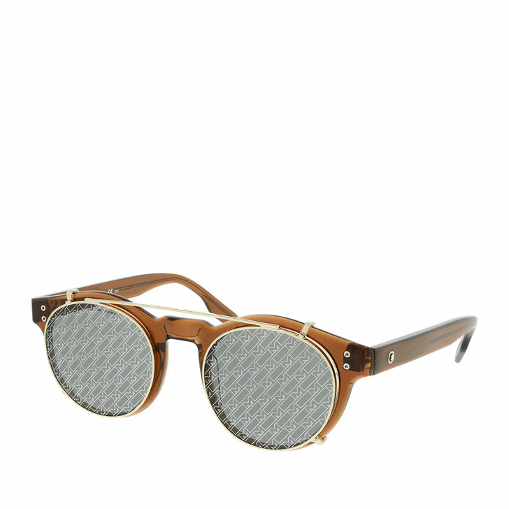 Sonnenbrille, Montblanc, MB0123S-004 49 Sunglass MAN ACETATE Brown