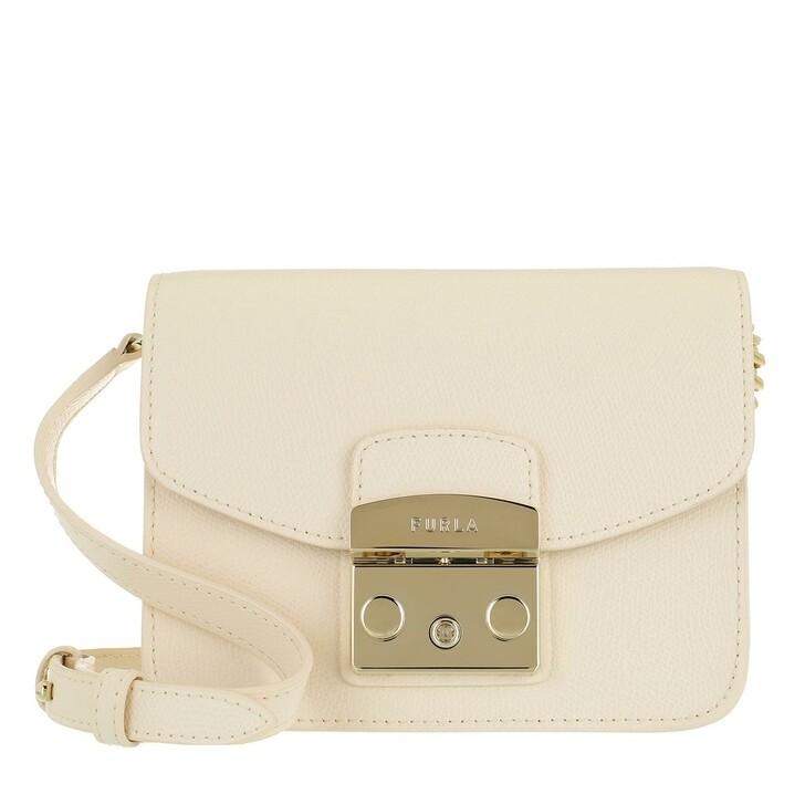 Handtasche, Furla, Metropolis Mini Crossbody Pergamena