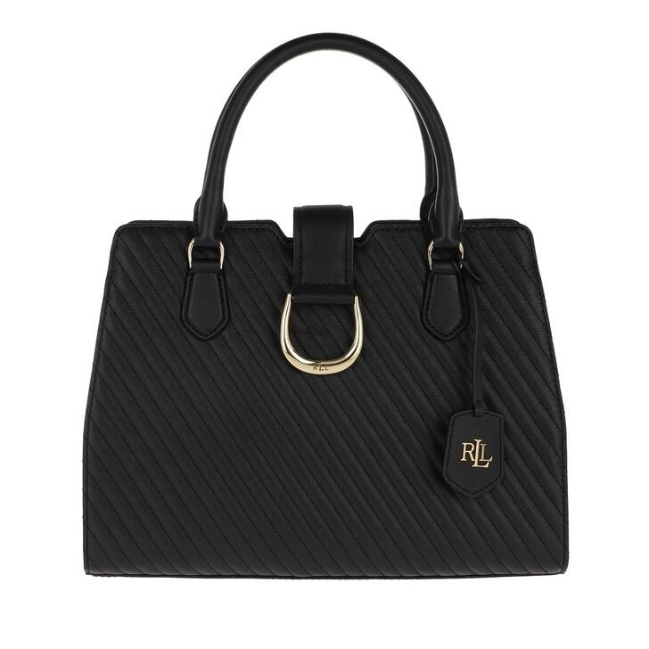Handtasche, Lauren Ralph Lauren, City Satchel Medium Black